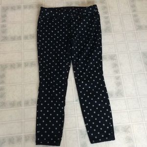 Ann Taylor The Skinny Ankle Embroidered Jeans